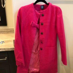 Jackets & Blazers - Kate Spade looking hot pink peacoat!